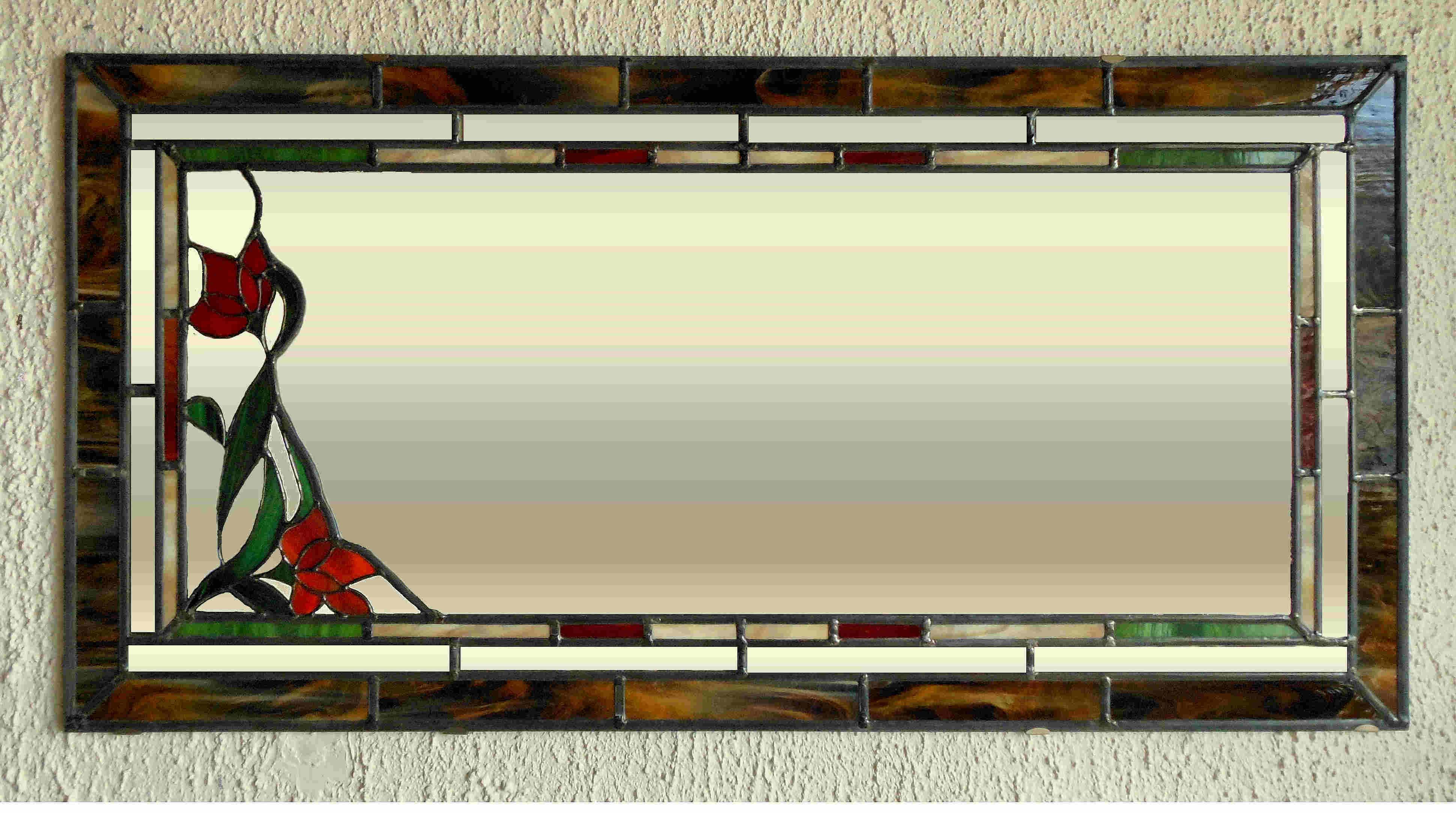 Glas in lood for Spiegel glas